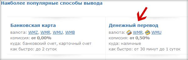 Как вывести деньги с webmoney по почте России