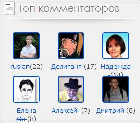 Топ комментаторов блога jonyit