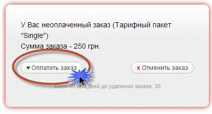 оплатить заказ хостенко