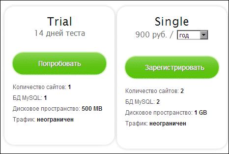 тарифы hostenko
